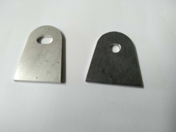 Bracket weld-on STAINLESS steel 1 piece