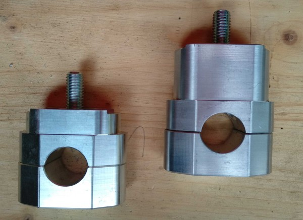 Handlebar clamps for our triple clamps