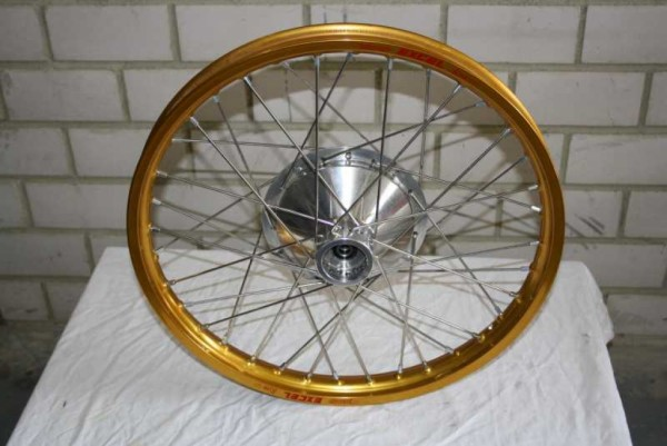 Front wheel incl. brake-plate